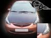 Создание ресничек на фары Honda Jazz \ Fit из чёрной виниловой матовой плёнки