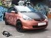 Обтяжка матовой виниловой плёнкой капота, крыши и стоек на Honda Jazz \ Fit