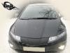 Обтяжка плёнкой под карбон капота и декоративной панели Honda Civic