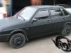 Полная обтяжка кузова отечественного авто чёрной матовой плёнкой